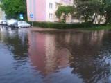 Burze z piorunami w Podlaskiem. Zalane ulice w Białymstoku, kilkadziesiąt interwencji straży pożarnej. W Michałowie płonęło bocianie gniazdo