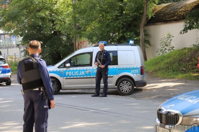 Policyjna akcja na Kępskiej w Opolu.