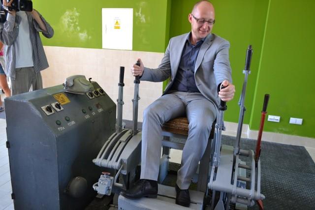 Wyremontowany gmach maszyny wyciągowej