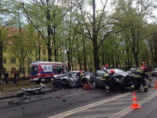 Wypadek na al. Wojska Polskiego zdarzył się 22 kwietnia.
