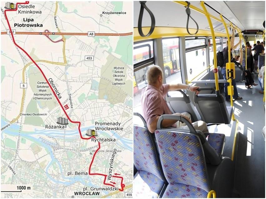 Autobus 111 będzie kursował z pl. Grunwaldzkiego na Lipę...