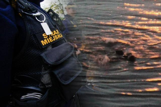 Obsługujący monitoring zauważył człowieka w Brdzie. Mężczyzna został wyciągnięty z wody przed dwóch przechodniów, a następnie przewieziony do szpitala.