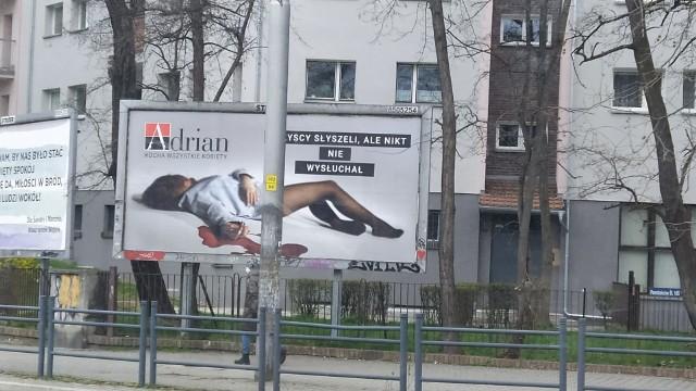 Jeden z billboardów we Wrocławiu