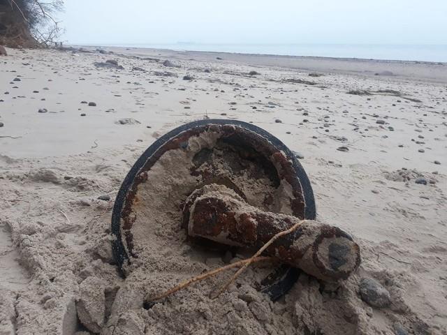 Znalezisko z dziwnowskiej plaży, czyli koło. Będzie poddane konserwacji i zostanie w Kamieniu.