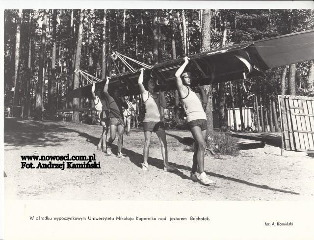 W ośrodku wczasowym UMK nad Bachotkiem pod koniec lat 70., lub na początku lat 80.