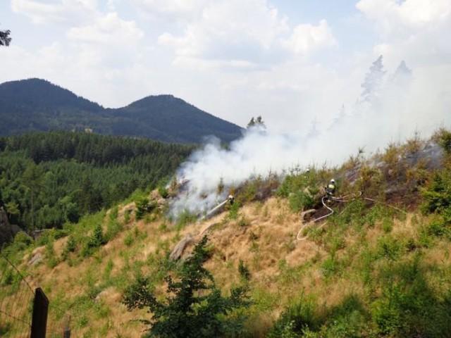 Pożar w Rudawach Janowickich
