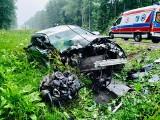 Trzy auta zderzyły się na DK 65. Dwie osoby ranne