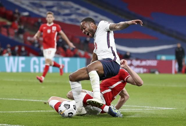 Gol z meczu Anglia - Polska.