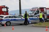 Wypadek na drodze do Wrocławia. Motocyklista zginął na miejscu. Trasa jest zablokowana