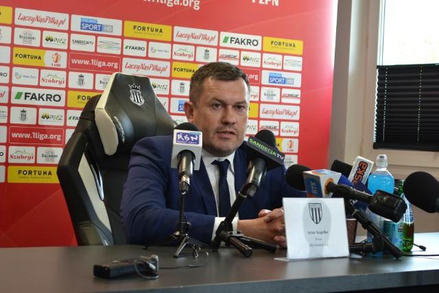 Prezes Sandecji Nowy Sącz Artur Kapelko