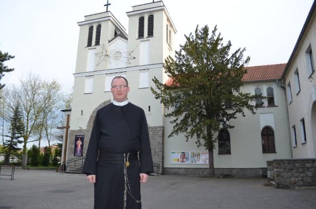 o. Łukasz Wójcik, proboszcz parafii pw. św. KLemensa