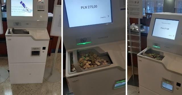 Maszyna w gdańskim NBP przeliczy drobne na większe nominały