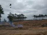 Śmigłowce w akcji. Płonie las. To tylko ćwiczenia służb (zdjęcia)