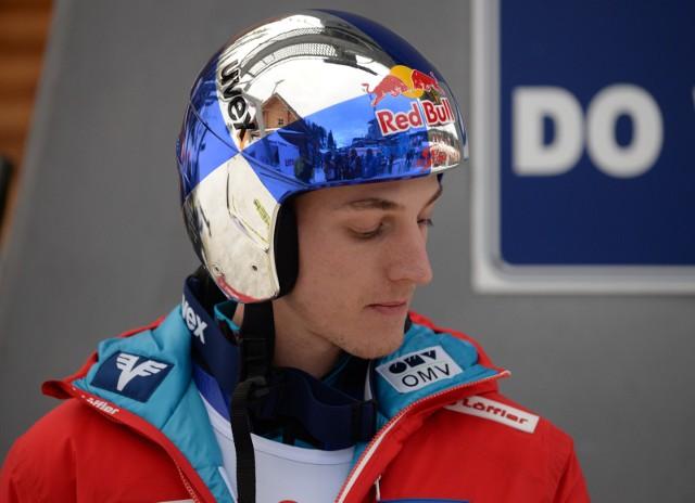 Gregor Schlierenzauer podczas Pucharu świata w Wiśle w 2017 roku