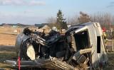 Dulkowszczyzna. Tragiczny wypadek na drodze gminnej. Mercedes zderzył się z volkswagenem. Zmarły dwie osoby, cztery są ranne [ZDJĘCIA]