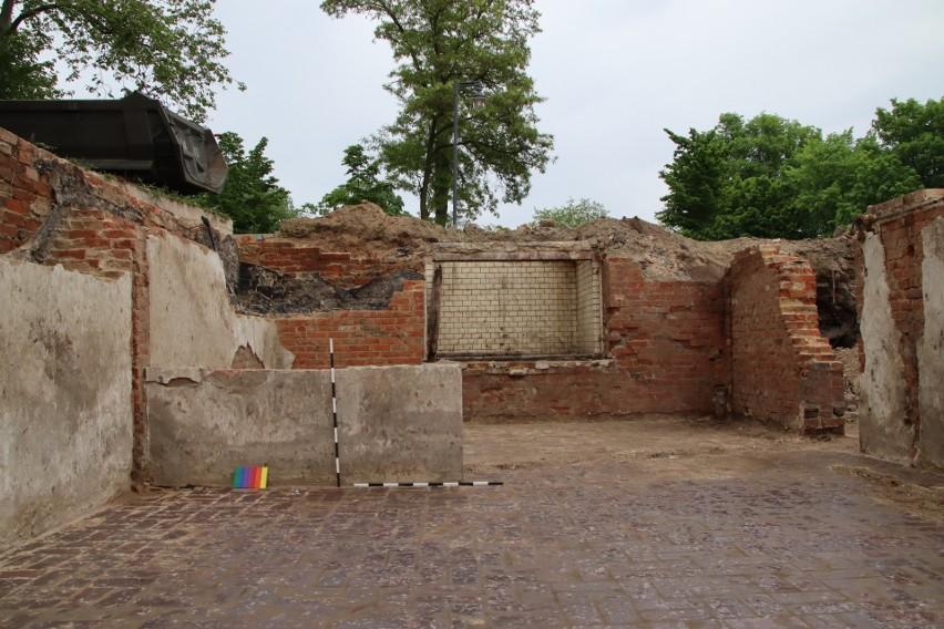Prace archeologiczne w Gubinie na terenie, gdzie mieściła...