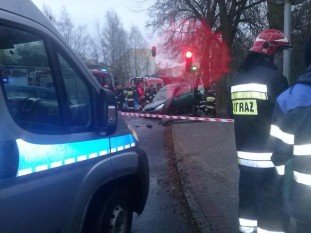 Wypadek na ul. Rolniczej w Gdyni Witominie