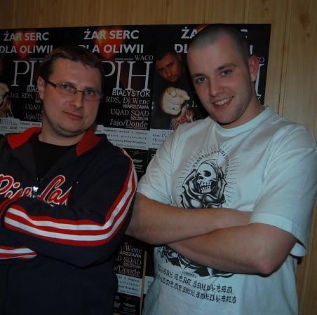 Marek Krzyśków, tata chorej Oliwki i Bartek Pabisiak, jeden z organizatorów koncertu, byli zadowoleni z frekwencji.
