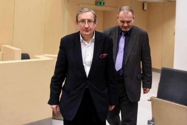 Józef Pinior i jego wieloletni asystent Jarosław Wardęga (z prawej)