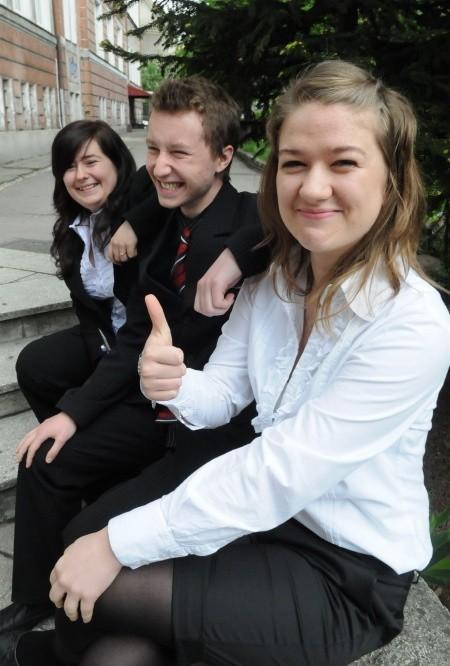 Małgorzata Kozakiewicz, Patryk Robaczewski i Marta Janikowska z IV LO w Gorzowie dziś pisali egzamin z biologii rozszerzonej