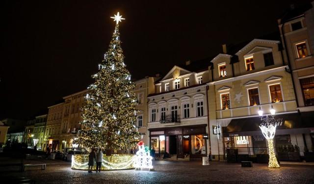 Świąteczne oświetlenie w Rzeszowie.