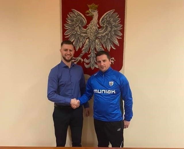 Od lewej nowy prezes i trener Sokoła Słopnice