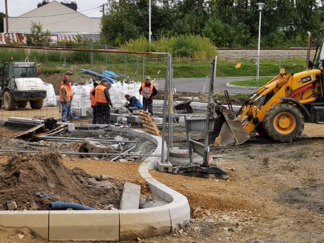 Trwa budowa ronda na DK 79 w Chrzanów