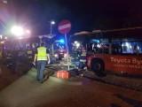 Po zderzeniu czołowym autobusów 31N i 32N w Bydgoszczy