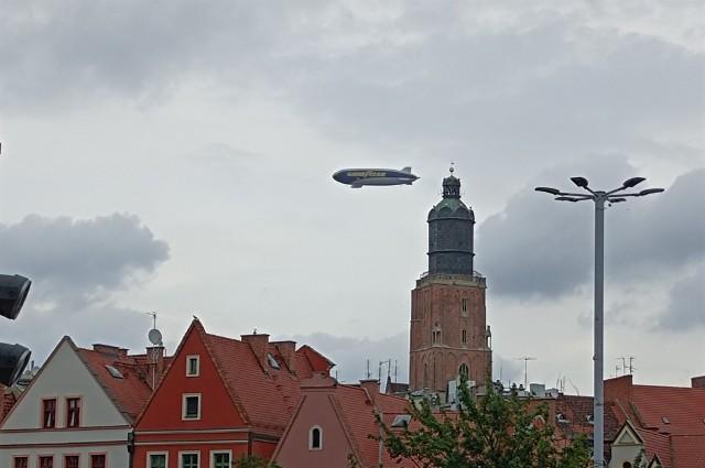 Sterowiec nad Wrocławiem 2.08.2021
