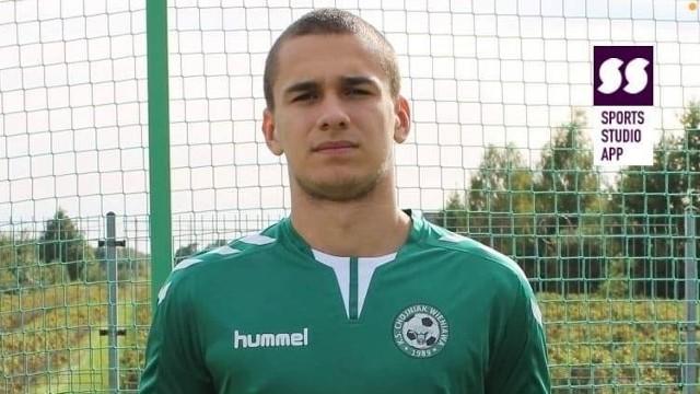 Oskar Miturski zdobył w sobotę dwa gole dla Chojniaka