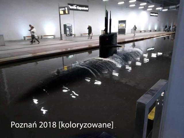 Zaczęło się niewinnie - od jednego zdjęcia, które w środę wieczorem pojawiło się na fanpage'u Spotted: MPK Poznań. Po ulewnych deszczach zalany został dolny poziom Kaponiery. Pierwsze przeróbki zdjęcia pojawiły się jeszcze tego samego dnia. Zobaczcie, jak z zalanej Kaponiery śmieją się internauci!Przejdź do kolejnego zdjęcia --->