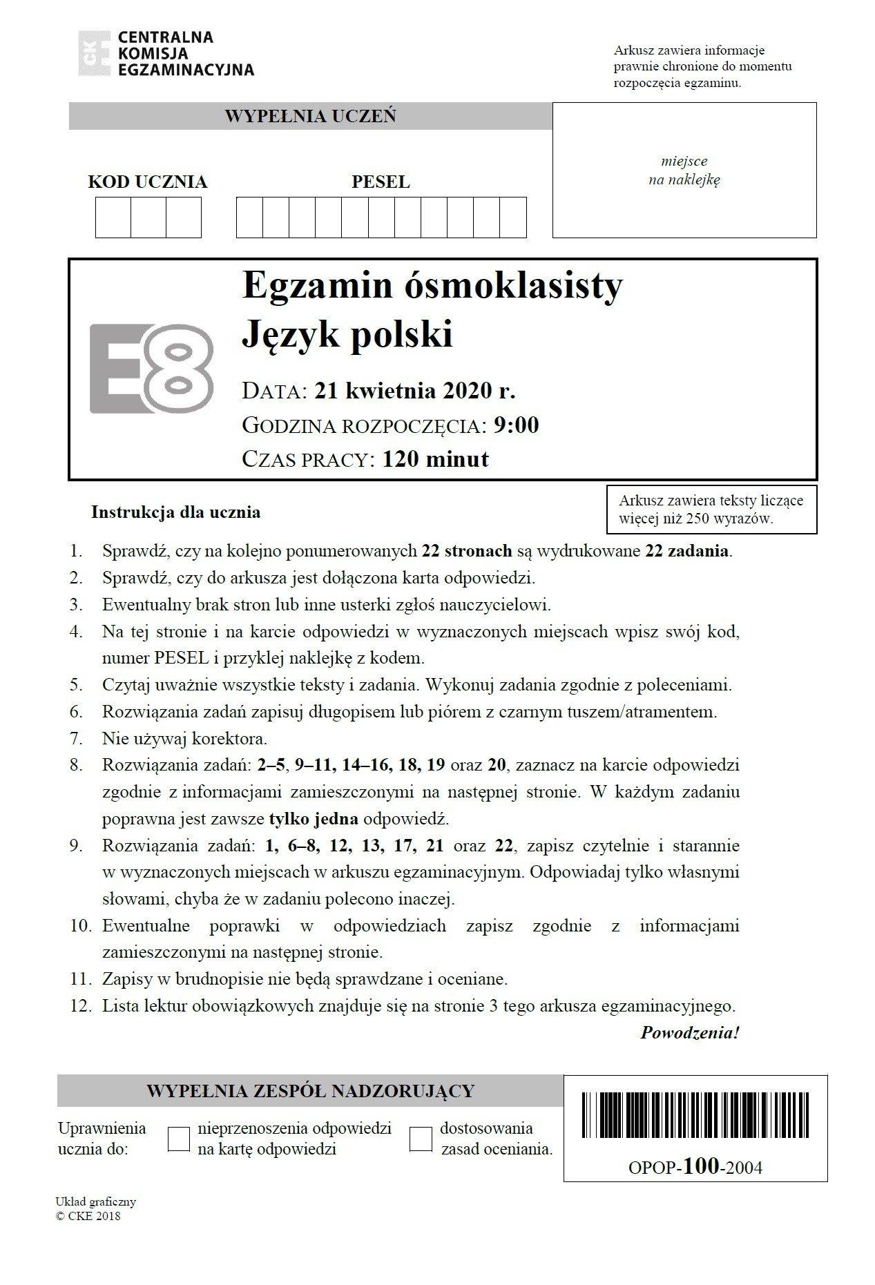 2021 matura polski odpowiedzi