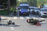 Pijany kierowca BMW zderzył się za motocyklistą. Niespokojna sobota na łódzkich drogach