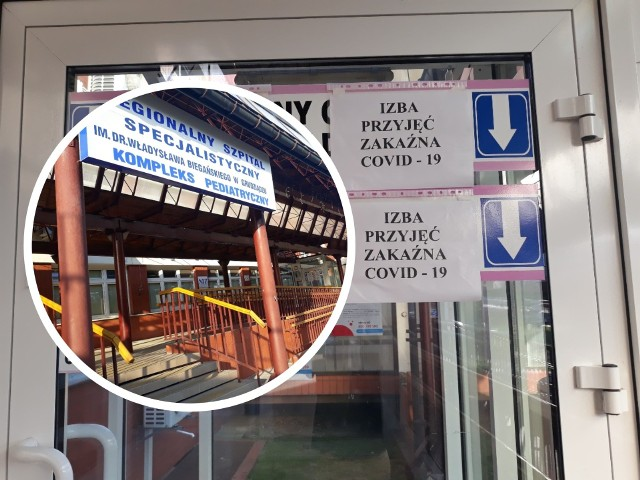"""Szpital w Grudziądzu w 90 proc. wznowił swoją działalność dla pacjentów, którzy nie są zarażeni koronawirusem, ale wciąż jeden obszar ww kompleksie pediatrycznym pozostaje wyłącznie """"covidowy""""."""