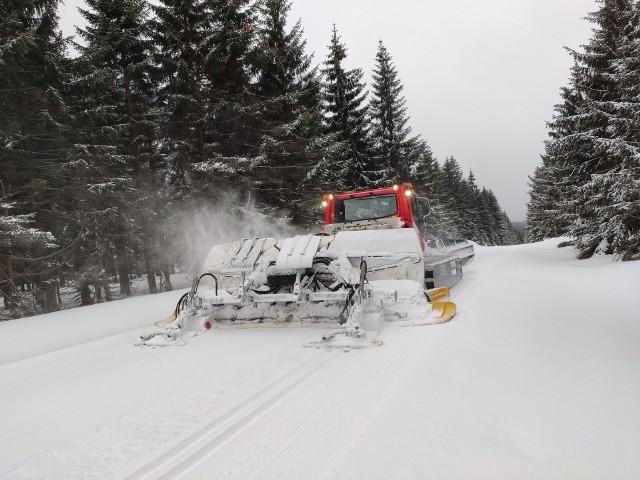Koniec kwietnia? A w Jakuszycach piękna zima! [ZDJĘCIA]Wiosna? A gdzie tam! W Jakuszycach w ostatnim tygodniu panowały wręcz rewelacyjne warunki dla wszystkich amatorów nart biegowych, ale też po prostu zimowych wędrówek po górach. W piątek, w sobotę oraz w niedzielę na szlaki wyjechał ratrak. Na początku weekendu przygotowanych dla narciarzy było nawet 80 km tras! A prognozy pokazują, że to jeszcze nie koniec - sobotę i w niedzielę znów ma sypnąć śniegiem. Piękną zimę mamy tej wiosny!WAŻNE! Kliknij w pierwsze zdjęcia, a do kolejnych przejdziesz za pomocą gestów lub strzałek.