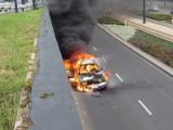 Pożar samochodu w tunelu na al. Mickiewicza [zdjęcia, FILM]
