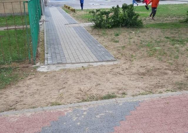 """""""Chodnikowy absurd"""" przy ul. Dobrzańskiego został zlikwidowany"""