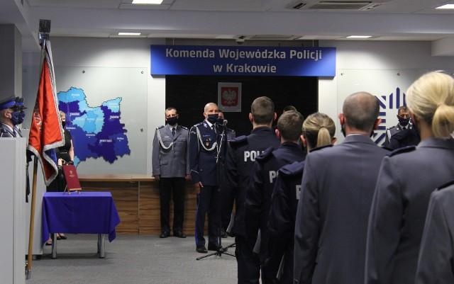 Ślubowanie nowych policjantów małopolskiego garnizonu