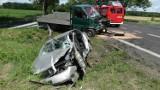 Wypadek na K-92 w gminie Lwówek: Trzy osoby ranne [ZDJĘCIA]