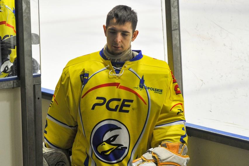 Dominik Robaszkiewicz spędził połowę spotkania w bramce Orlika.