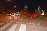 Wieczorny wypadek na rondzie Lotników Lwowskich