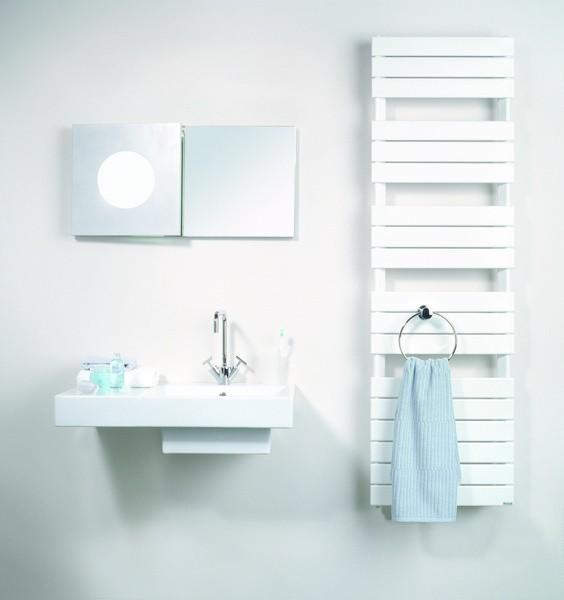 Grzejniki drabinkowe idealnie nadają się do łazienki. Na zdjęciu: model Muna (Purmo). Cena - od ok. 630 zł.