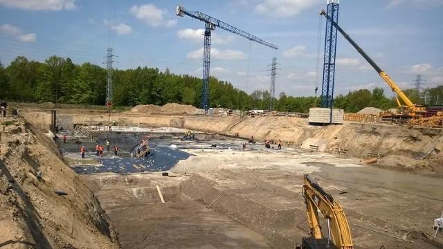 Budowa stadionu Łódzkiego Klubu Sportowego idzie zgodnie z planem