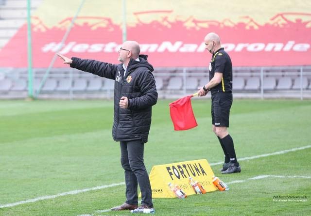 Dominik Nowak liczy na to, że piłkarze Korony pokażą dużą determinację i pokonają Arkę Gdynia.