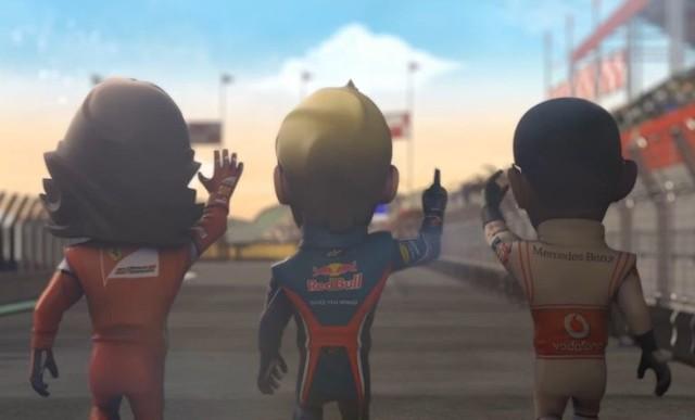 F1 Race StarsF1 Race Stars: Wielkie głowy trzech mistrzów świata, czyli Alonso, Vettel i Hamilton