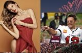 Super Bowl: Siódmy tutuł Toma Brady'ego. Ciacho, przykładny ojciec i mąż supermodelki Gisele Bundchen. Zobacz zdjęcia.