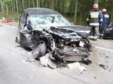 Tragedia na drodze z Hajnówki do Białowieży. W koszmarnym wypadku zginęła kobieta [ZDJĘCIA]