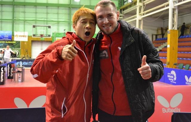 Kaii Yoshida (z lewej) i Bartosz Such, zawodnicy Olimpii/Unii Grudziądz optymistycznie podchodzą do meczu ze Stellą Sport la Romagne z Francji