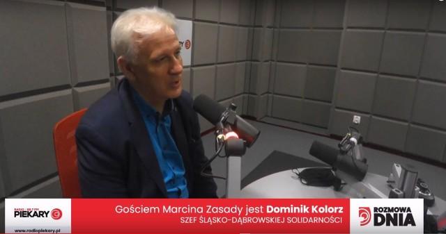Dominik Kolorz w Rozmowie Dnia Dziennika Zachodniego w studiu Radia Piekary