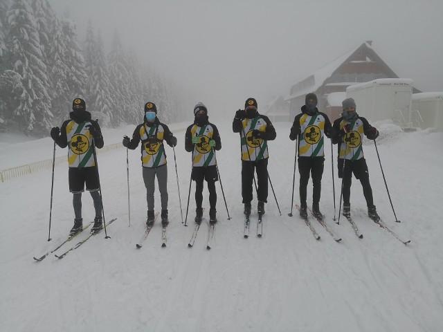 Żużlowcy Falubazu Zielona Góra na nartach w Jakuszycach.